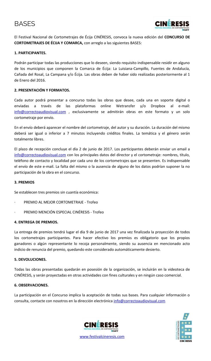 BASES CONCURSO COMARCAL