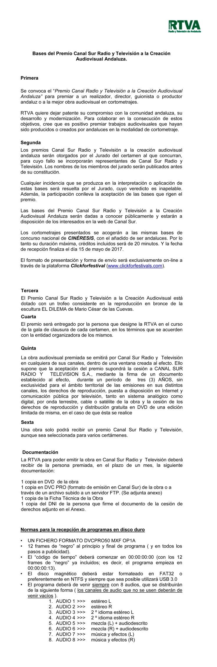 ACUERDO ENTRE RTVA  Y MUESTRA DE CINE AFRICANO DE TARIFA  PARA L